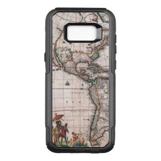 The Visscher map of the New World OtterBox Commuter Samsung Galaxy S8+ Case