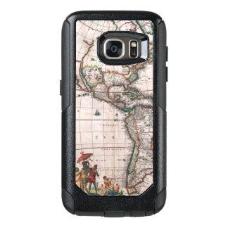 The Visscher map of the New World OtterBox Samsung Galaxy S7 Case