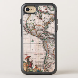 The Visscher map of the New World OtterBox Symmetry iPhone 8/7 Case