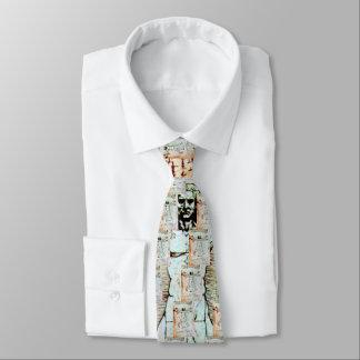 THE VITRUVIAN MAN , Antique Brown Parchment Tie
