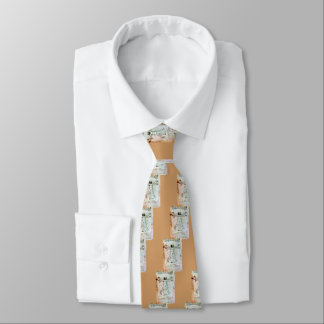 THE VITRUVIAN MAN  Antique  Parchment Tie