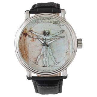 THE VITRUVIAN MAN Antique Parchment Watch
