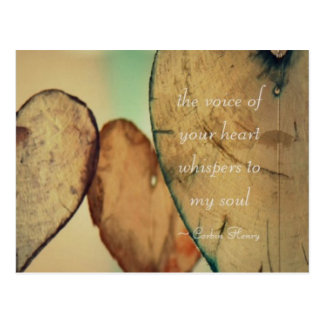 The Voice Of Your Heart Whispers To My Soul Postcard