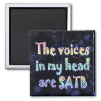 The Voices in My Head are SATB magnet