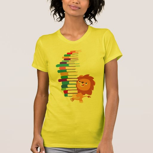 The Voracious Reader (Cartoon Lion) Women T-Shirt