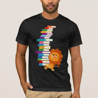 The Voracious Reader (Cute Cartoon Lion) T-Shirt