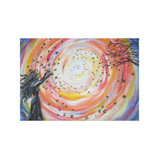 The Vortex of Light Stretched Canvas Print