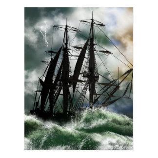 The Voyage - Columbus Sailing The Ocean Postcard