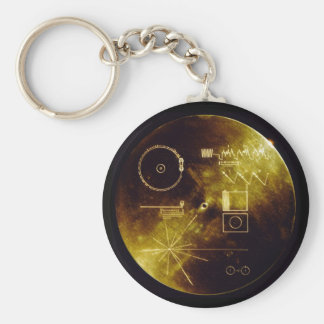 The Voyager Golden Record Basic Round Button Key Ring