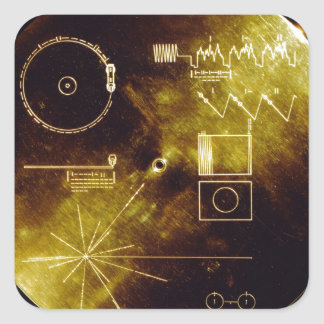 The Voyager Golden Record Square Sticker