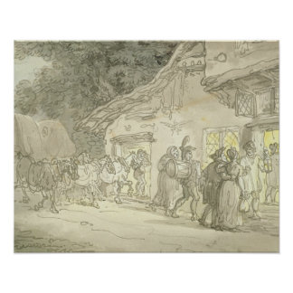 The Waggoner's Rest, c.1800-05 (pen & ink and w/c Poster