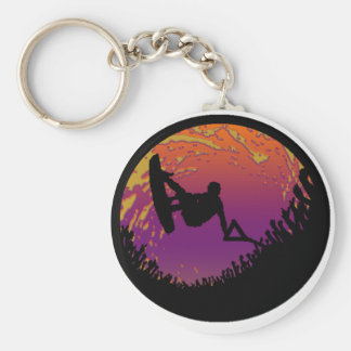 THE WAKEBOARD SCARECROW BASIC ROUND BUTTON KEY RING