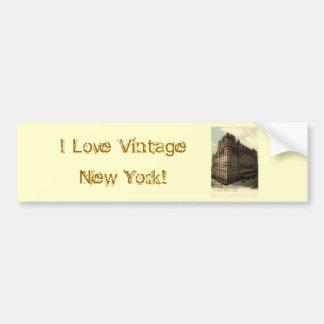 The Waldorf Astoria, New York City 1908 Vintage Bumper Sticker