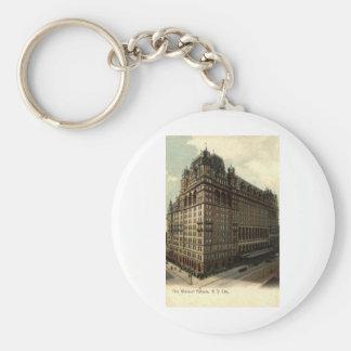 The Waldorf Astoria, New York City 1908 Vintage Key Ring