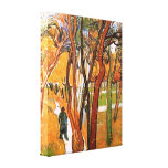 The Walk in Falling Leaves by Vincent van Gogh Gallery Wrapped Canvas