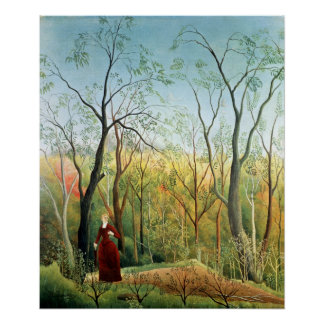 The Walk in the Forest, 1886-90 Poster