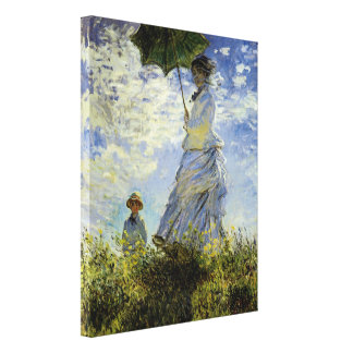 The Walk, Lady with a Parasol Canvas Print