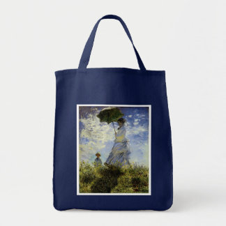 The Walk, Lady with a Parasol Grocery Tote Bag
