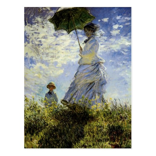 The Walk, Lady with a Parasol Post Cards