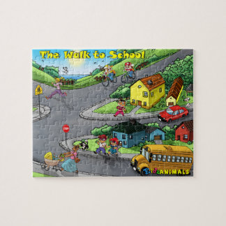 The Walk to School - 110 Piece Jigsaw Puzzle