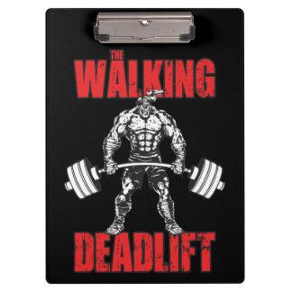 The Walking Deadlift - Zombie Workout Clipboard