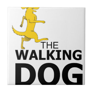 The walking dog ceramic tile