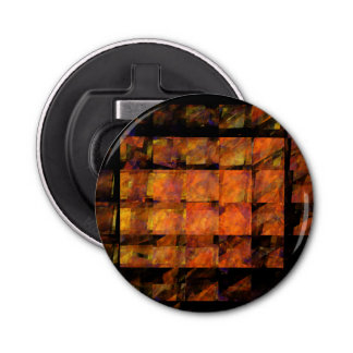 The Wall Abstract Art Button