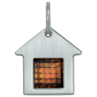 The Wall Abstract Art House Pet Name Tag