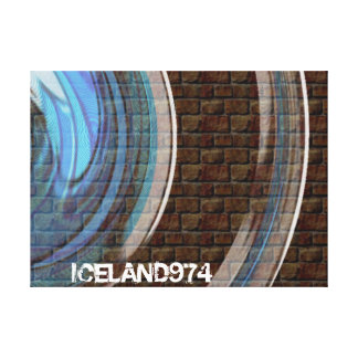 THE WALL - ICELAND974 - ISLAND OF RÉUNION STRETCHED CANVAS PRINTS
