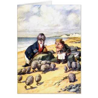 THE WALRUS AND THE CARPENTER IN WONDERLAND GREETING CARD