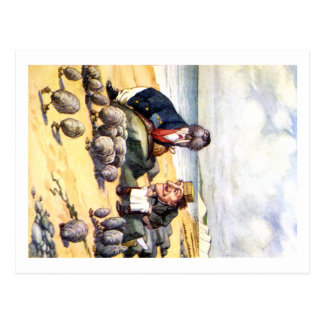 THE WALRUS AND THE CARPENTER IN WONDERLAND POSTCARD