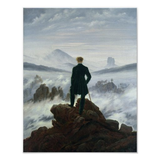 The Wanderer above the Sea of Fog, 1818 Posters