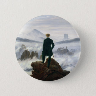 The Wanderer above the Sea of Fog 6 Cm Round Badge
