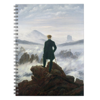 The Wanderer above the Sea of Fog Spiral Note Book
