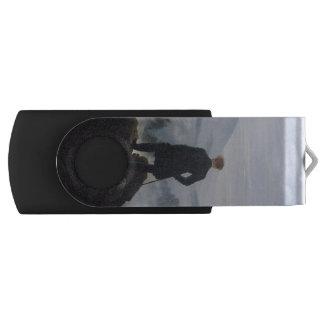 The wanderer above the sea of fog swivel USB 2.0 flash drive
