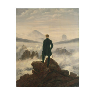 The Wanderer above the Sea of Fog Wood Prints