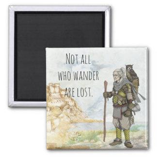 The Wanderer Square Magnet