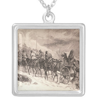 The War Between Servia and Bulgaria Silver Plated Necklace