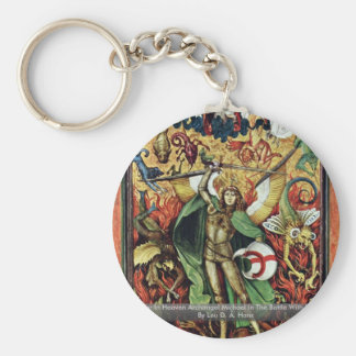 The War In Heaven Archangel Michael In The Battle Basic Round Button Key Ring