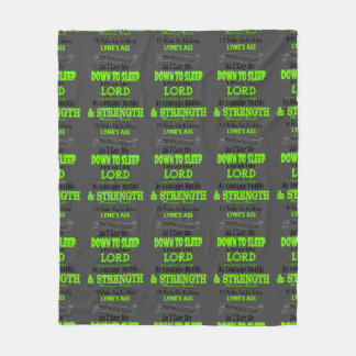 The Warrior's Prayer...Lyme Fleece Blanket