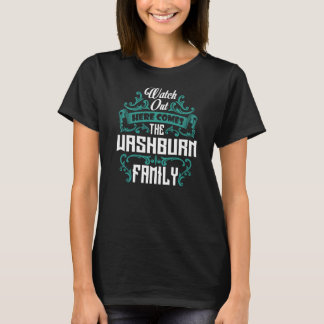 The WASHBURN Family. Gift Birthday T-Shirt