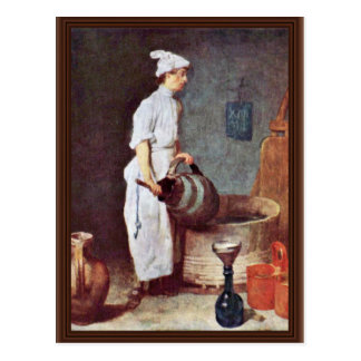 The Washing Up Guy In The Pub By Chardin Jean-Bapt Postcard