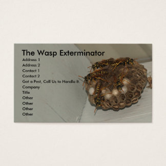 The Wasp Exterminator Business Card