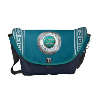 The Water Bearer - Aquarius Zodiac Sign Messenger Bag