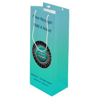 The Water-Bearer's Horoscope Symbol Wine Gift Bag