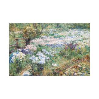 The Water Garden Childe Hassam Fine Art Stretched Canvas Prints