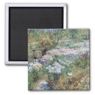 The Water Garden Childe Hassam Fine Art Fridge Magnets