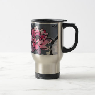 The Water Lily Stainless Steel Travel Mug