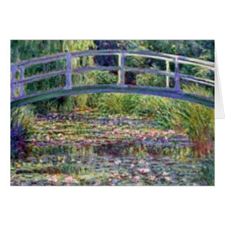 The Water Lily Pond by Claude Monet Greeting Card
