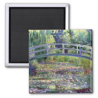 The Water Lily Pond by Claude Monet Square Magnet